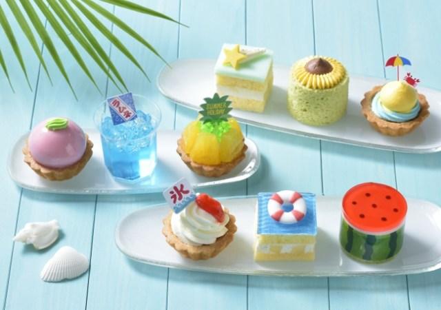 コージーコーナーに夏のプチケーキセット「サマーホリデー」が登場! スイカやかき氷をモチーフにしています