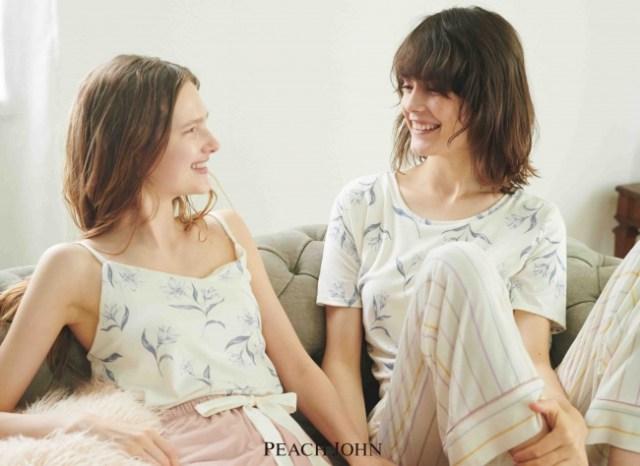 ピーチ・ジョンの「上下自由に組み合わせられるパジャマ」に新色が仲間入り! キャミ・Tシャツ・ショーパン・ロングパンツから選べるよ