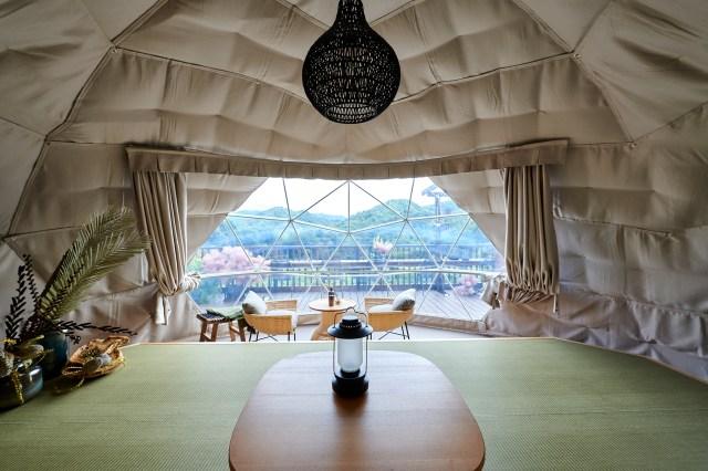 【予約開始】日比谷花壇のグランピングサイトがオープン! 大自然に囲まれたドーム型テントで有機野菜を使った食事も楽しめるよ