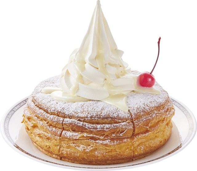 コメダ珈琲に「まっしろノワール」が登場! 粉糖×ソフトクリーム×練乳と白尽くしだよ