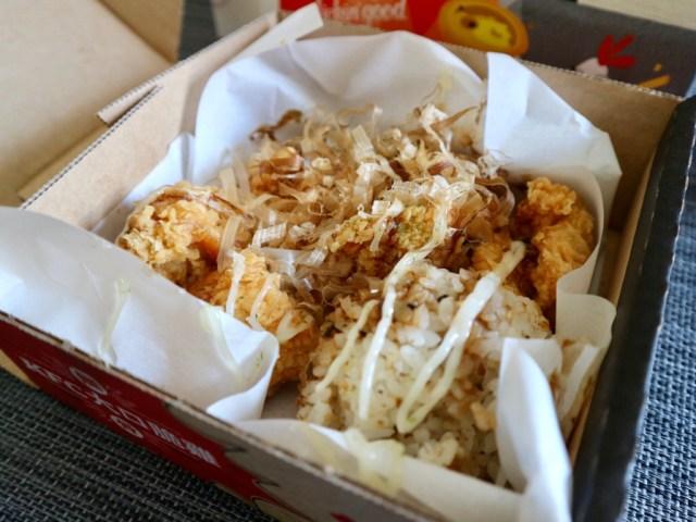 台湾ケンタッキーが「大阪のお好み焼き」チキンを発売してる! なぜかお米がセット! 実際に食べてみたら…手が止まらん旨さだった