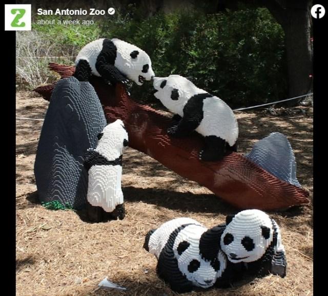もふもふパンダかと思いきや…実はレゴ! アメリカの動物園に登場した「レゴ動物園」のクオリティーがすごい