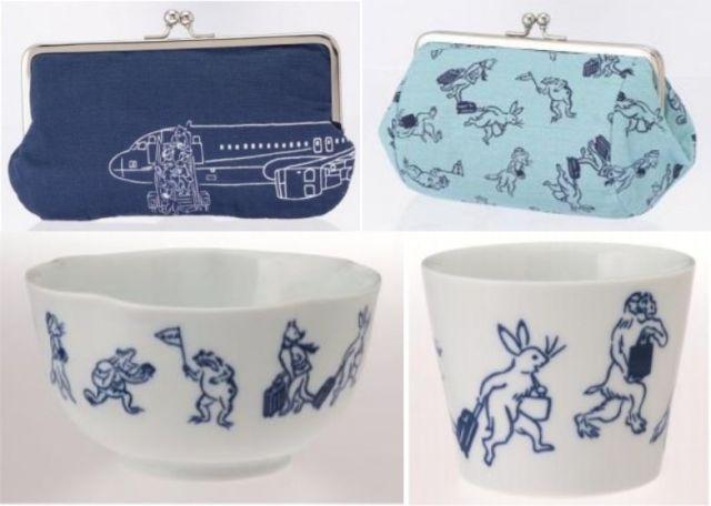 『鳥獣戯画』の動物たちがスーツケースで旅行に!? ANA×かまわぬのコラボグッズがかわいいのです♪