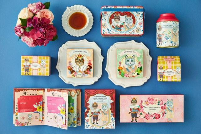 """まるで""""猫のお茶会""""にお呼ばれしたみたい! ナタリー・レテとコラボした紅茶とお菓子がアフタヌーンティーに登場♪"""