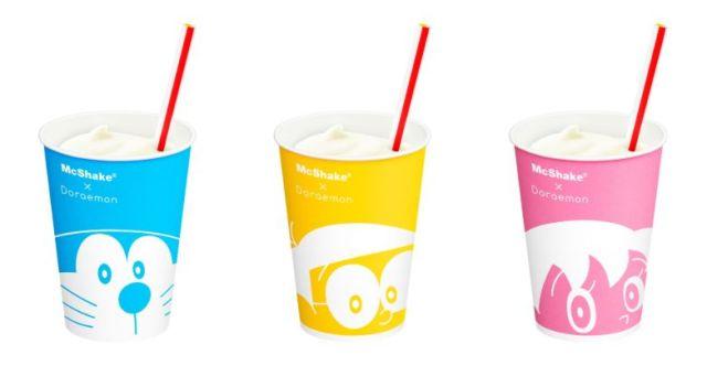 """ドラえもんとコラボした「マックシェイク ヨーグル """"ド""""」が新登場! 5種類のカップのデザインがかわいすぎる〜"""