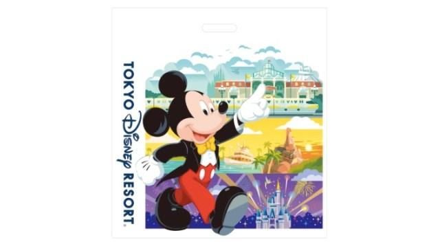 今日から東京ディズニーリゾートの買い物袋が新デザインになるよ! 有料化で一律20円で販売されます
