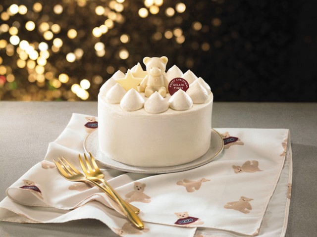 ジェラピケ初の「クリスマスケーキ」がかわいすぎる! オリジナルベア柄のランチョンマット付きだよ~