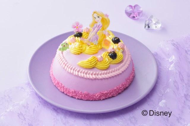 銀座コージーコーナーの「ラプンツェルケーキ」がゆめかわいい~♡ ドレスと長い髪をケーキで表現しているよ