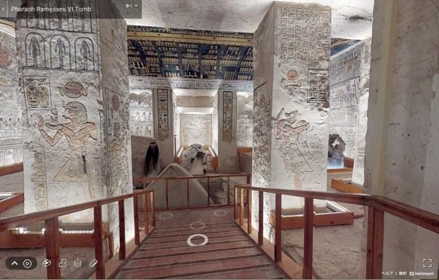 エジプト政府が公開した「ファラオの墓」のバーチャルツアーが圧倒的な没入感!  壁画を間近に見られてまるで探検してるみたい