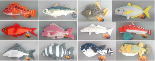 獲ったど~~~っ!! カワハギやシマアジなど釣りで定番のお魚を集めたぬいぐるみがめちゃめちゃリアル♪