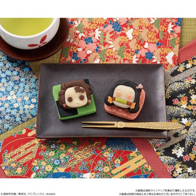 「鬼滅の刃」が和菓子になってローソンに登場! 炭治郎と禰豆子がねりきりで可愛く再現されてるよ