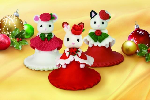 シルバニアファミリーのお人形そっくりな「クリスマスケーキ」が数量限定で登場! かわいすぎて食べられない予感