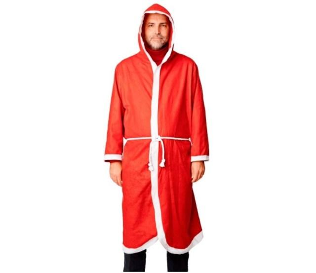 フライングタイガーコペンハーゲンのサンタクロース衣装が思ってたんと違う…! これ完全にボクサーがガウンで着てるやつー!!