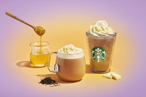 【本日発売】スタバ新作「アール グレイ ハニー ホイップ フラペチーノ」は紅茶と蜂蜜に癒されそう! 3種類のティーラテも登場するよ〜