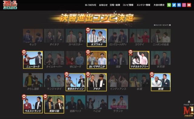 """【M-1グランプリ2020決勝】""""注目のファイナリスト5組"""" を紹介! おいでやすこが、錦鯉など"""