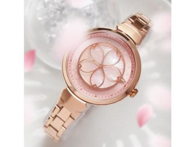 1秒ごとに桜の花びらが表情を変えていく…! ロマンティックな仕掛けの腕時計にうっとりしちゃいます