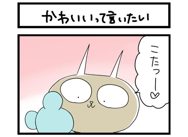 【夜の4コマ部屋】かわいいって言いたい / サチコと神ねこ様 第1462回 / wako先生
