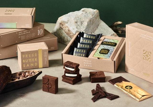バレンタイン限定で「プレスバターサンド」からチョコ味が登場! チョコレートブランド「MAROU」とのコラボで間違いなく美味しそう…