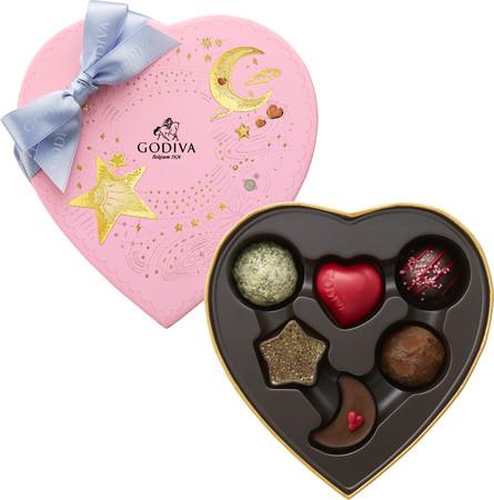 ゴディバのバレンタインチョコが乙女チックで可愛い~♡ 月・星・ハートをテーマにしたデザインにキュンです