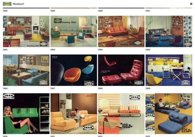 イケアの70年分のカタログがオンラインで公開中! レトロおしゃれな家具やインテリア満載で永遠に眺められそう
