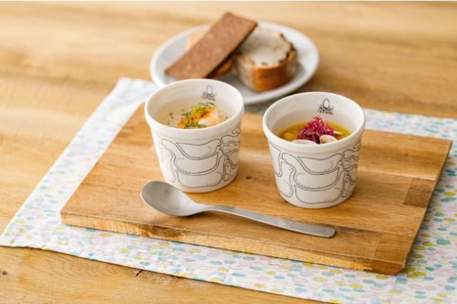 「スープストックトーキョー×ミナ ペルホネン」のコラボがすてき! おとぎ話に出てきそうなスープ&可愛いスープカップが登場するよ~