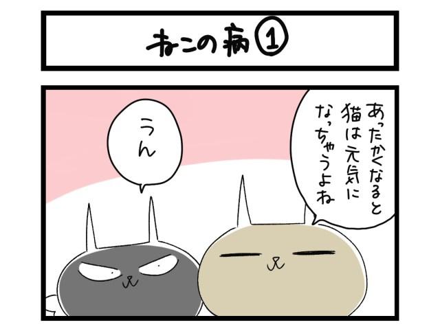 【夜の4コマ部屋】ねこの病 (1) / サチコと神ねこ様 第1510回 / wako先生