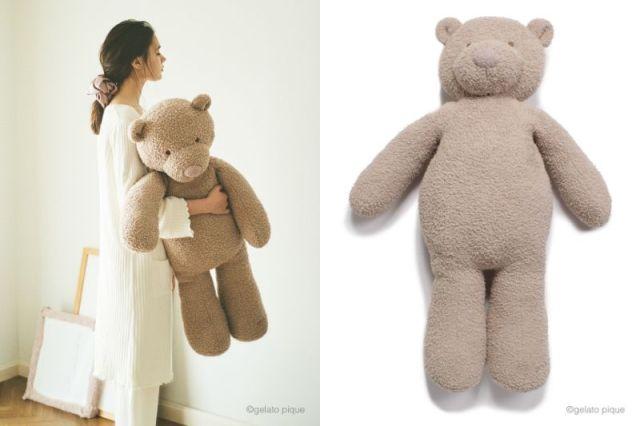 ジェラピケのでっかくてフワモコな「クマちゃん抱き枕」がかわええ〜! 一度触ったらやみつきになる手触りらしい