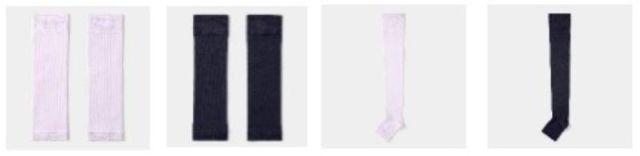 「カーフサポート」(390円)と「レッグサポートソックス」(790円)