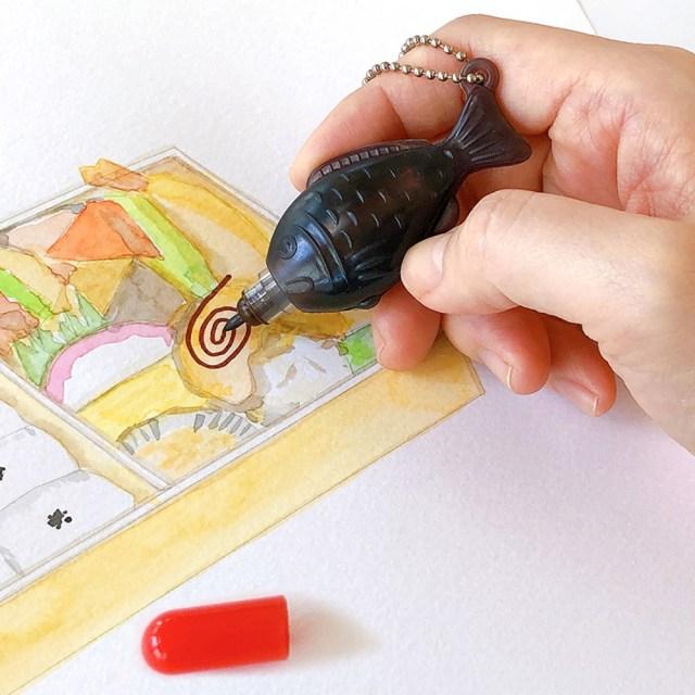 お弁当のお供「醤油鯛」がペンになっちゃった!?  なんと醤油の香りがするらしいよ…!