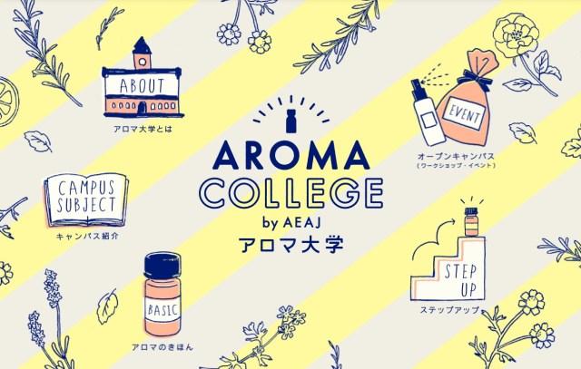 体の不調に対応するアロマを教えてくれる「アロマ大学」が超便利! 質問に答えるだけでオススメのアロマが見つかります