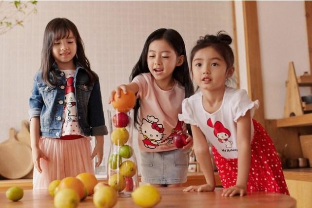 H&M×サンリオコラボのキッズウェアが可愛いの極み♡ 世界観そのままのポップなカラーだよ