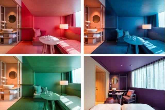 水道橋にオープンした「トグルホテル」のお部屋がアート作品みたい! フロアごとに違うツートンカラーに見惚れちゃいます