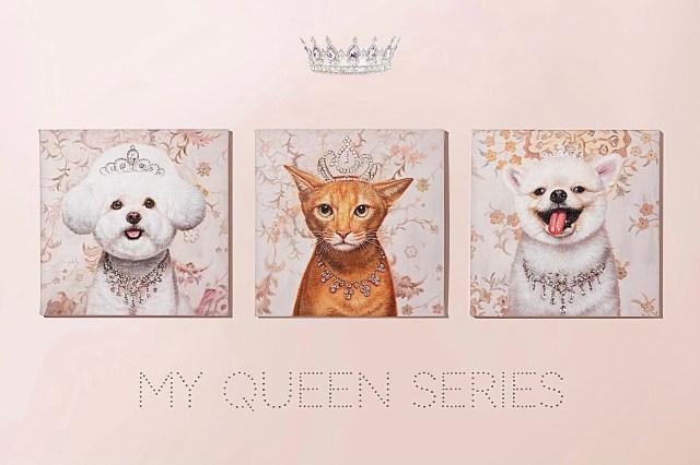 愛犬や愛猫がジュエリーをつけておめかし♡ ペットの肖像画を油絵で描くサービスが素敵