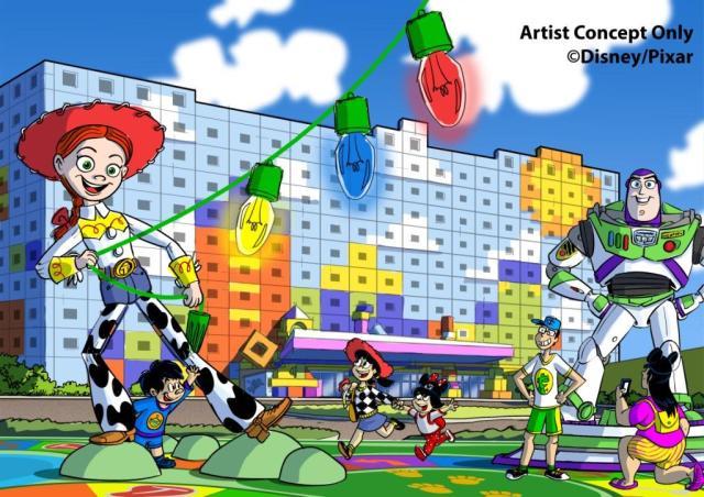 「トイ・ストーリーホテル」が東京ディズニーリゾートに2021年度にオープン! おもちゃの世界を感じられる工夫がいたるところに満載です