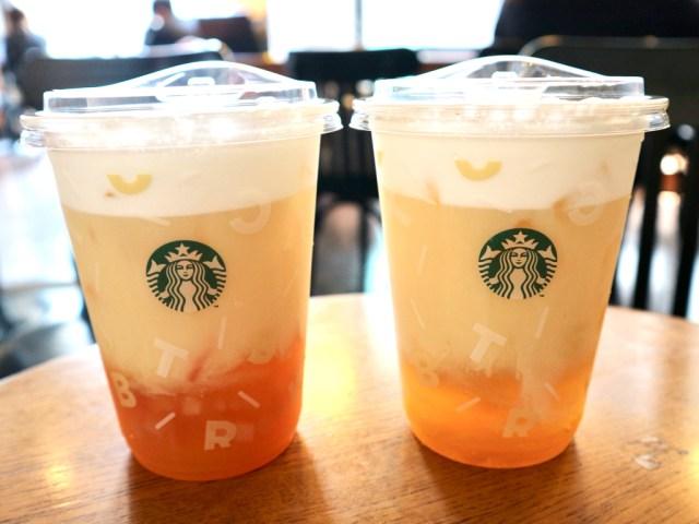 台湾のスタバには烏龍茶×フルーツのメニューがある♪ パイナップルや桃の味が暑い季節にぴったりだよ