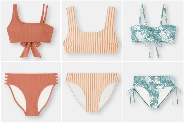 GUの水着はトレンド感あるのにプチプラ♪ 組み合わせも楽しめて挑戦しやすいデザインばかりです