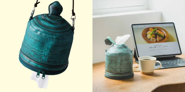 お寺の鐘からティッシュが出てくる!? フェリシモおてらぶの「梵鐘(ぼんしょう)ロールペーパーホルダー」がインパクト大