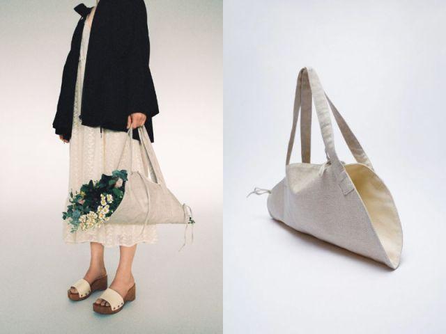 ZARAで「花束を持ち運べるバッグ」が発売されてる! ナチュラルな風合いが素敵です