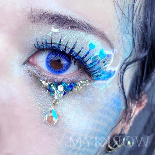 涙をジュエルで表現した「涙のつけまつげ」が幻想的…繊細で美しい「涙メイク」の世界