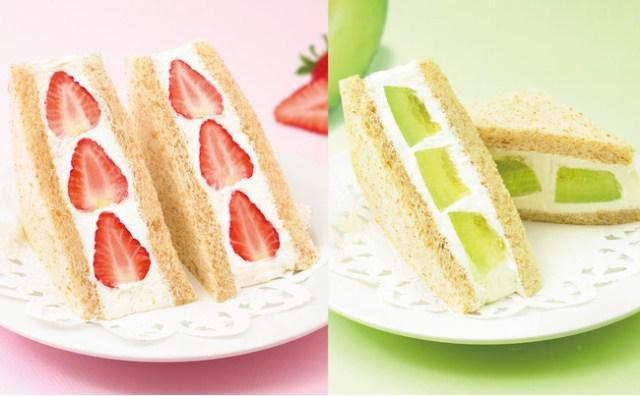 コージーコーナーが11店舗限定で「フルーツサンド」を発売するよ~! ケーキ店ならではの贅沢なWクリームがたまらんです