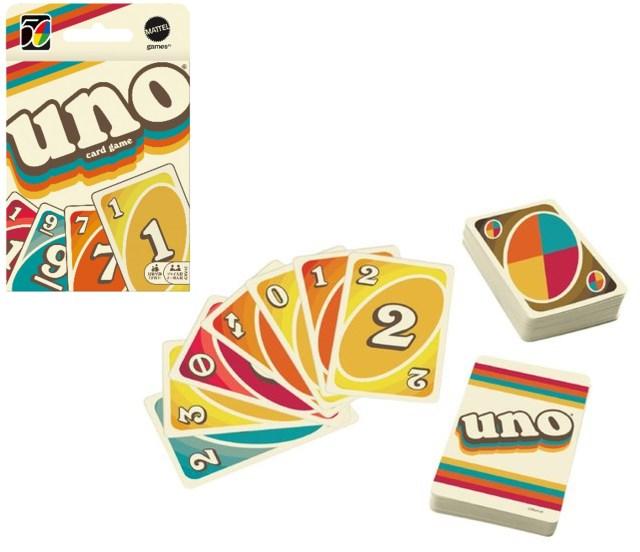 カードゲーム「ウノ」が1970年代風のレトロデザインに! 発売当時にタイムスリップした気分で楽しめそう