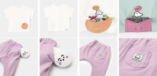 GU babyから『シナぷしゅ』とコラボしたファッションが登場!赤ちゃんの好奇心をくすぐる仕掛けがいっぱいです