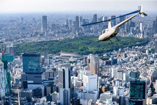 ヘリコプターで東京都内を空中散歩!? セルリアンタワー東急ホテルにヘリポート送迎付きプランが登場!
