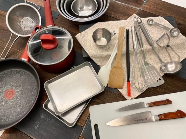 料理・お菓子・パン作りに必要な調理道具が全部そろう! お料理教室セレクトの「基礎セット」が自炊デビューにピッタリ