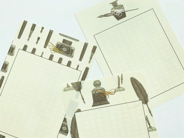銀座蔦屋書店から変わった原稿用紙が発売! 万年筆などがデザインされた「私たちの筆記具」がレトロかわいい♡