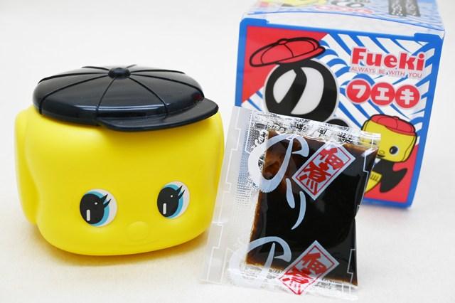 「のり」じゃなくて「海苔」が入った食べられるフエキくんが登場だよ! 黒い帽子が目印です♪