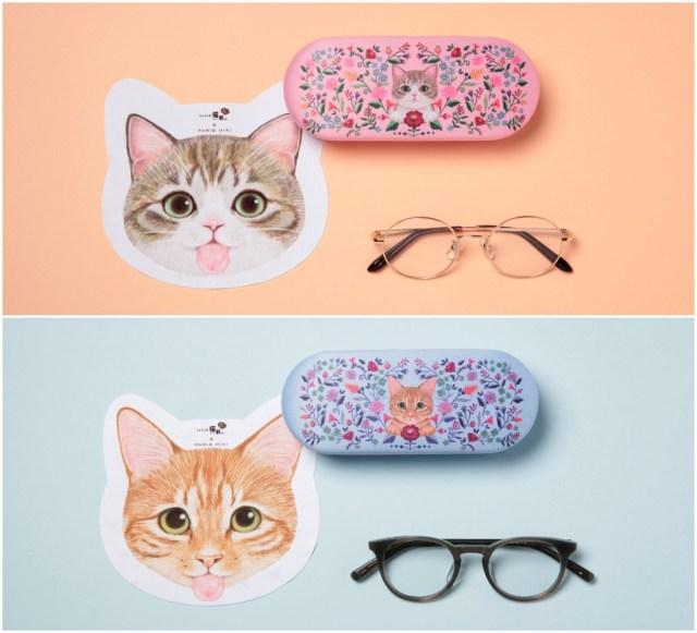 猫の舌ぺろメガネ拭きで癒しをお届け♡ パリミキ×フェリシモ猫部がコラボアイテムに新色登場!