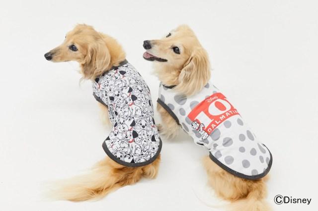 「101匹わんちゃん」デザインのペットウェアがめちゃ可愛い! モノトーンカラーがオシャレな犬用タンクトップです