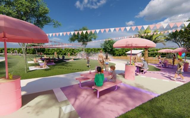 東京サマーランドに新エリア「AOZORA PARK」誕生! ピンク色を基調としたリゾート空間は写真映えもバッチリです☆