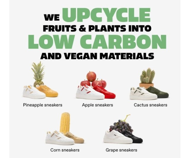 果物を素材にしたスニーカーが画期的! 環境に配慮したサステナブルな作りです